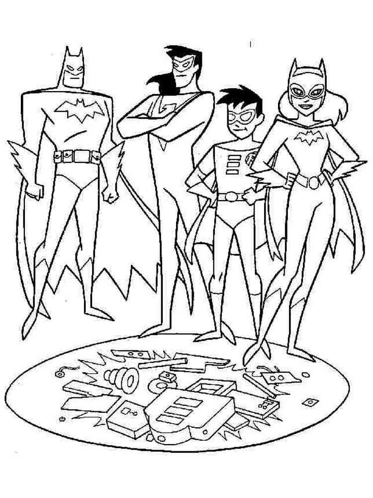 Batman and Robin coloring pages. Free Printable Batman and ...