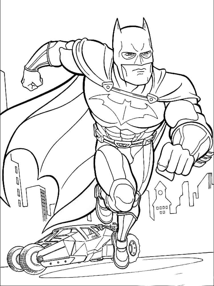 Batman coloring pages download and print batman coloring for Batman coloring book pages