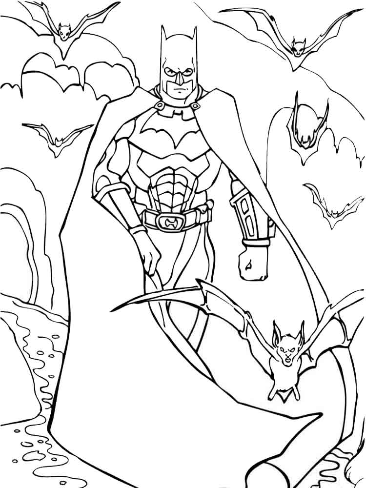 Batman coloring pages download and print batman coloring for Batman christmas coloring pages