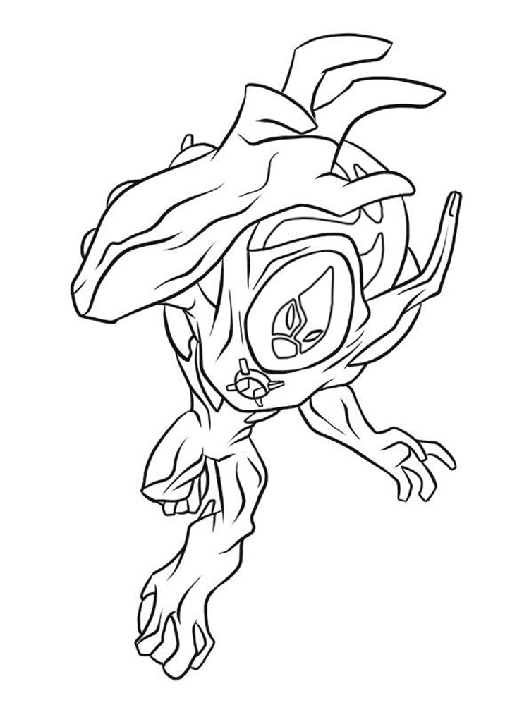 Ben 10 Ultimate Alien Coloring Pages For Boys