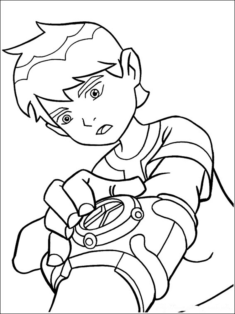 Ben 10 Ultimate Alien coloring pages. Free Printable Ben ...