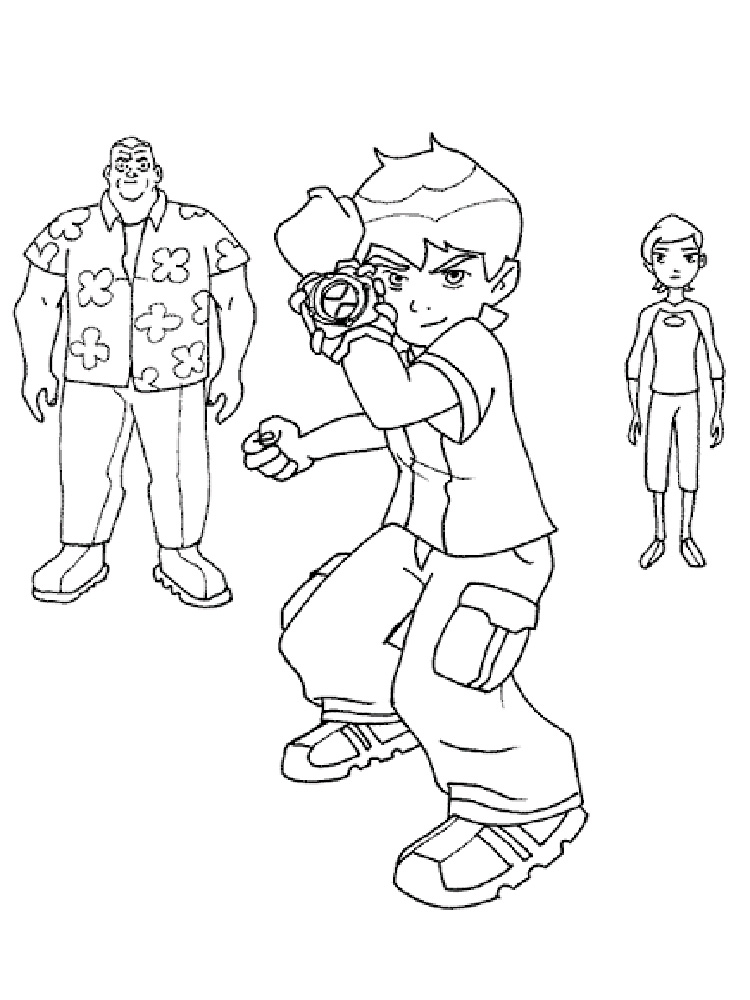 Ben 10 Ultimate Alien Coloring Pages Free Printable Ben