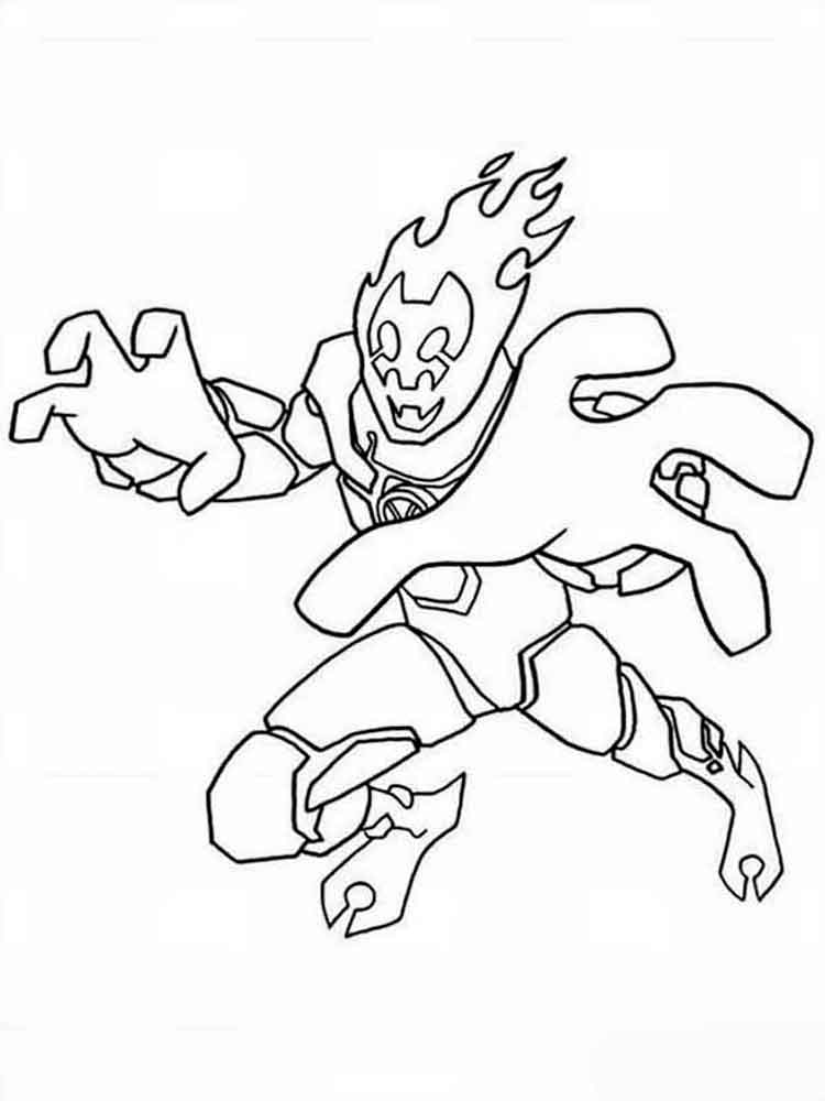 ben10 coloring pages 13 - Ben Ten Coloring Pages