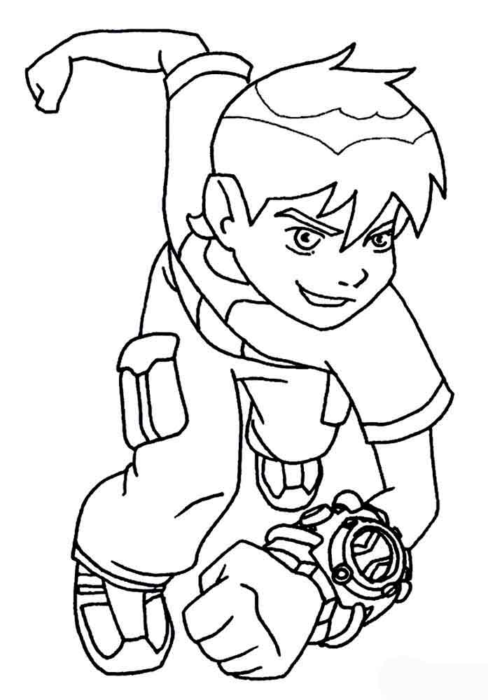Ben 10 coloring pages download and print ben 10 coloring for Ten coloring page