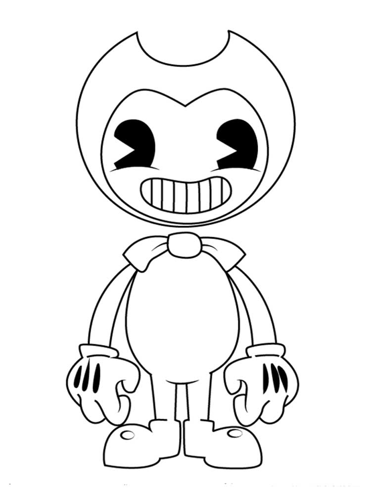 Free Printable Bendy And The Ink Machine Coloring Pages For Kids