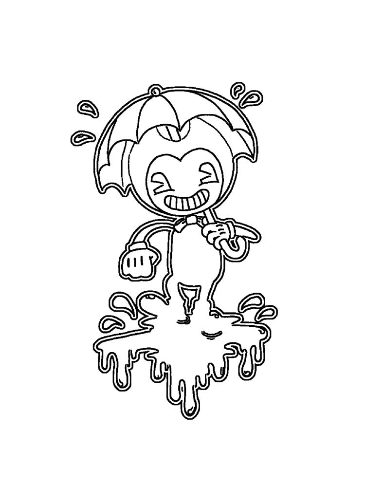 Free printable Bendy and the ink machine coloring pages ...