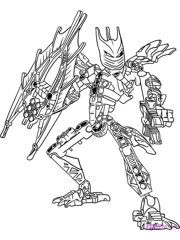 Bionicle coloring pages free printable bionicle coloring for Coloring pages for boys online