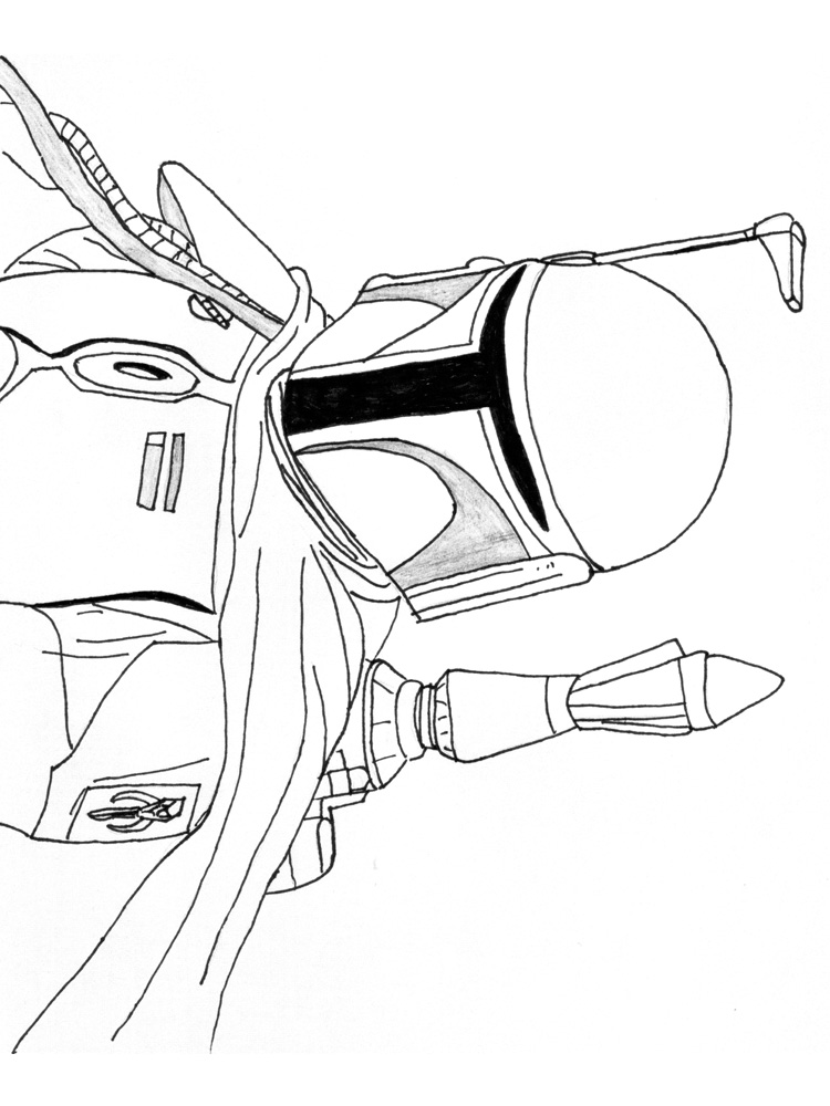 Boba Fett coloring pages. Free Printable Boba Fett coloring pages.