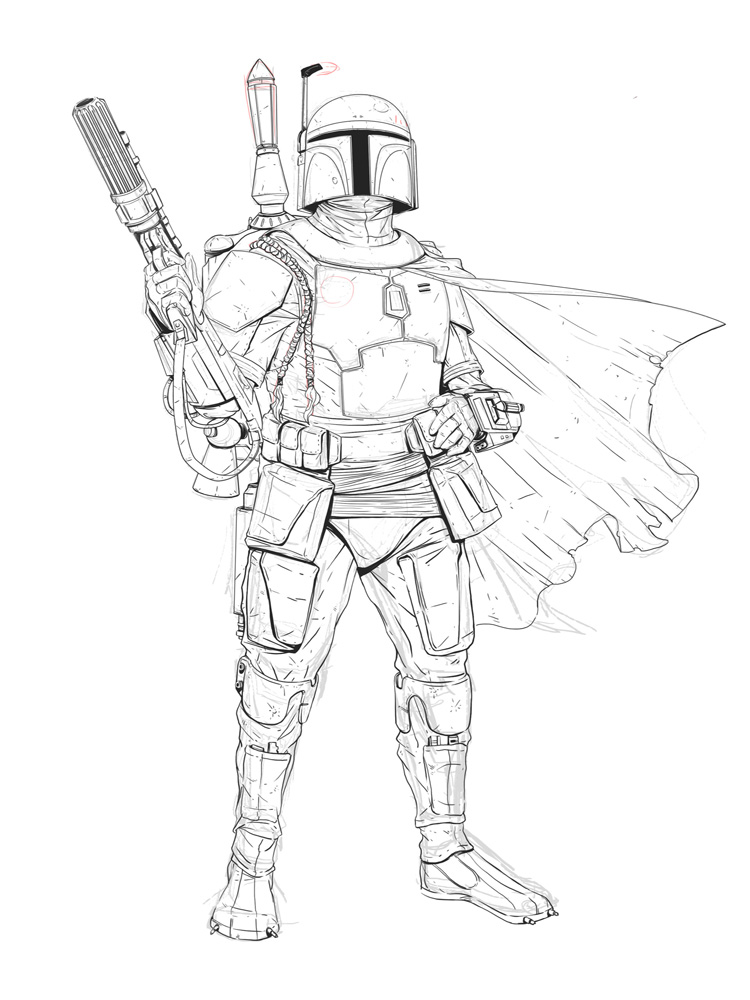Boba Fett coloring pages Free