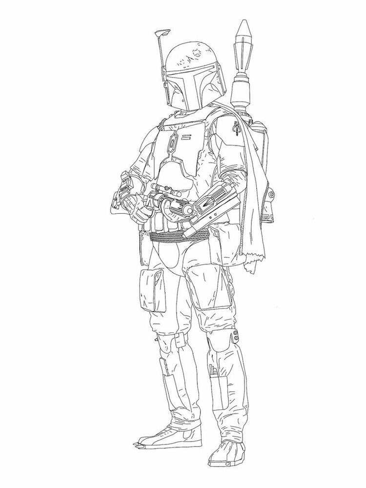 Boba Fett Coloring Pages Free Printable Boba Fett