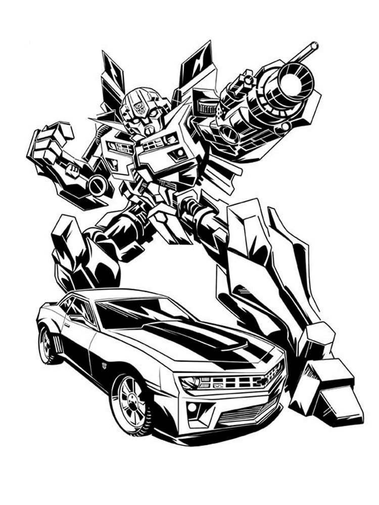 Bumblebee coloring pages Free