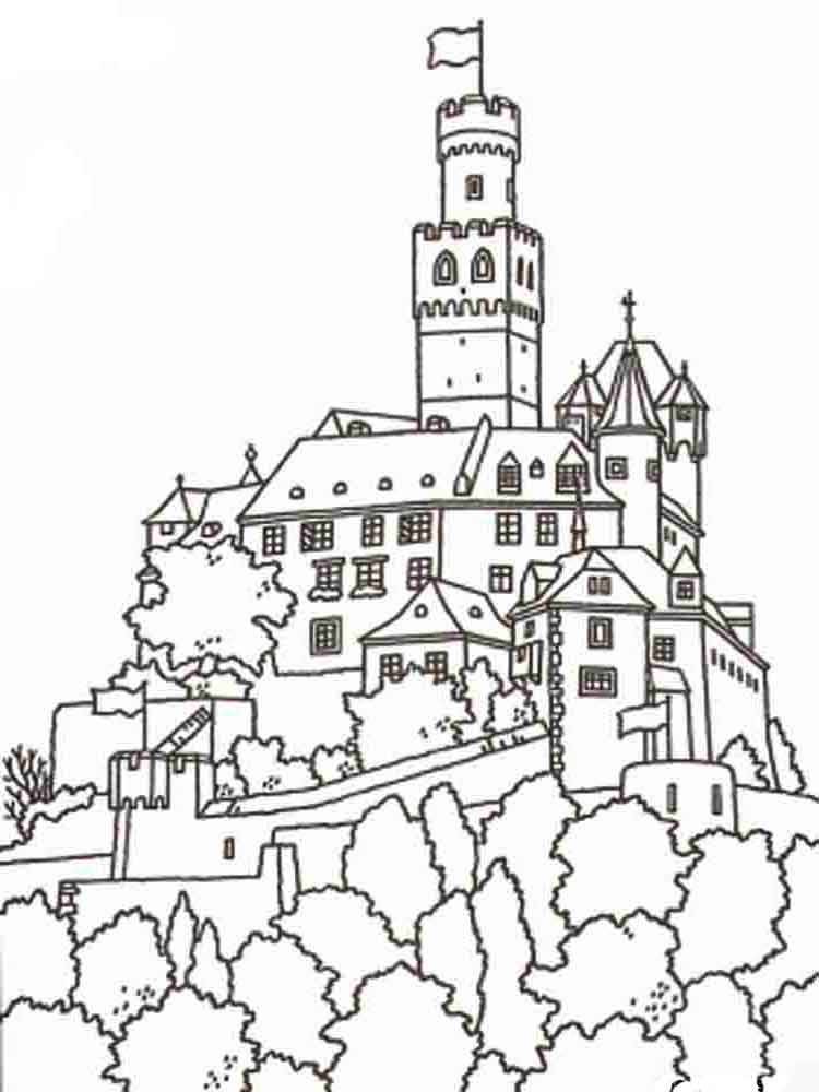 Castle coloring pages Download