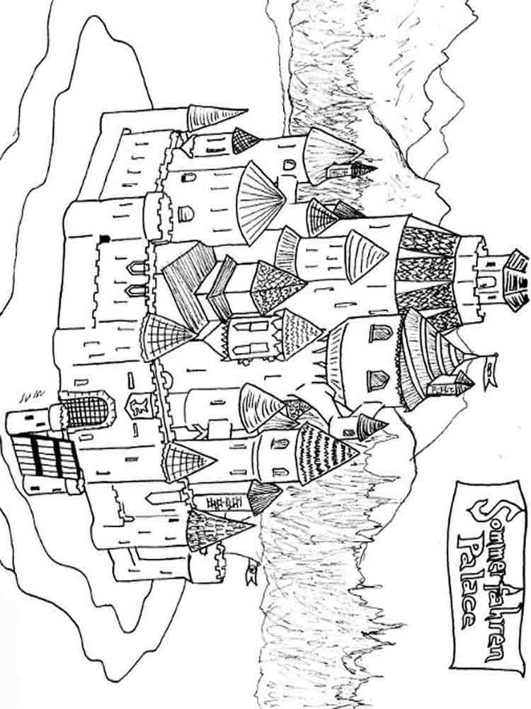 Castle coloring pages. Download and print castle coloring ...