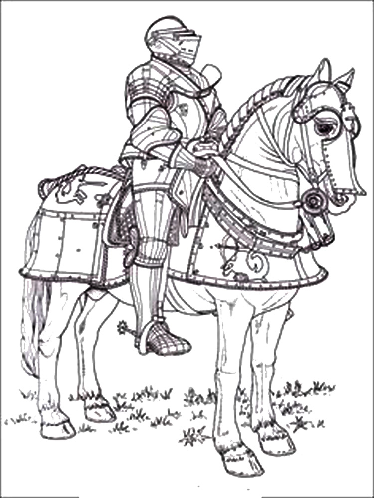 Castles and Knights coloring pages Free Printable Castles
