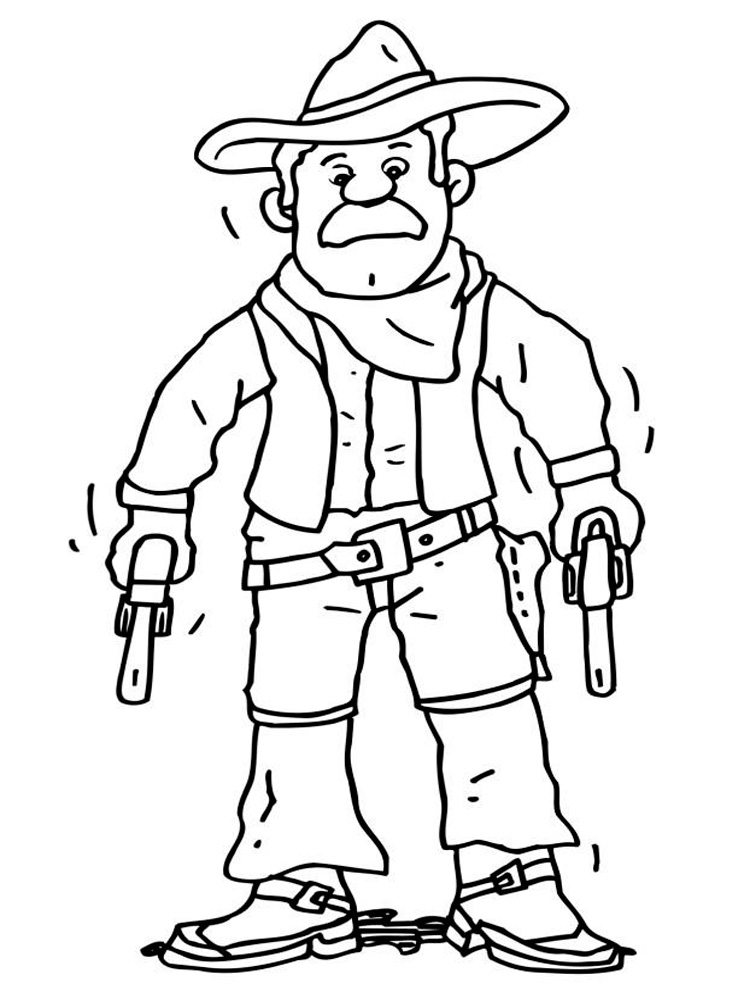 Free printable cowboy coloring pages ~ Cowboy coloring pages. Free Printable Cowboy coloring pages.