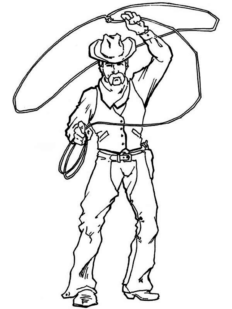Cowboy coloring pages. Free Printable Cowboy coloring pages.