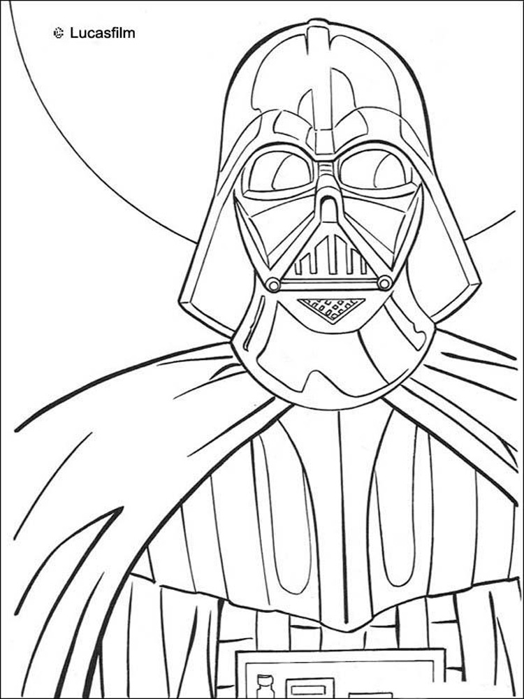 Darth Vader coloring pages. Free Printable Darth Vader ...