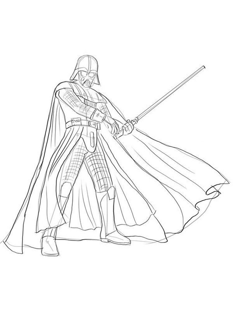 Darth Vader Coloring Pages Free Printable Darth Vader