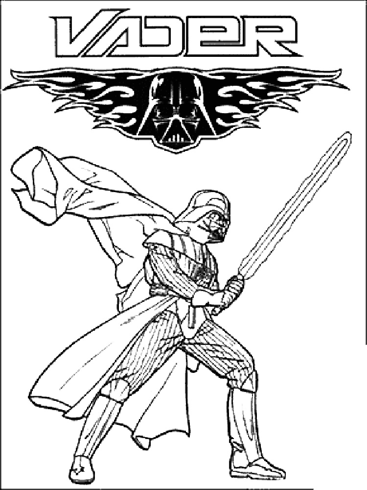 darth vader coloring pages for boys 13 - Darth Vader Coloring Pages