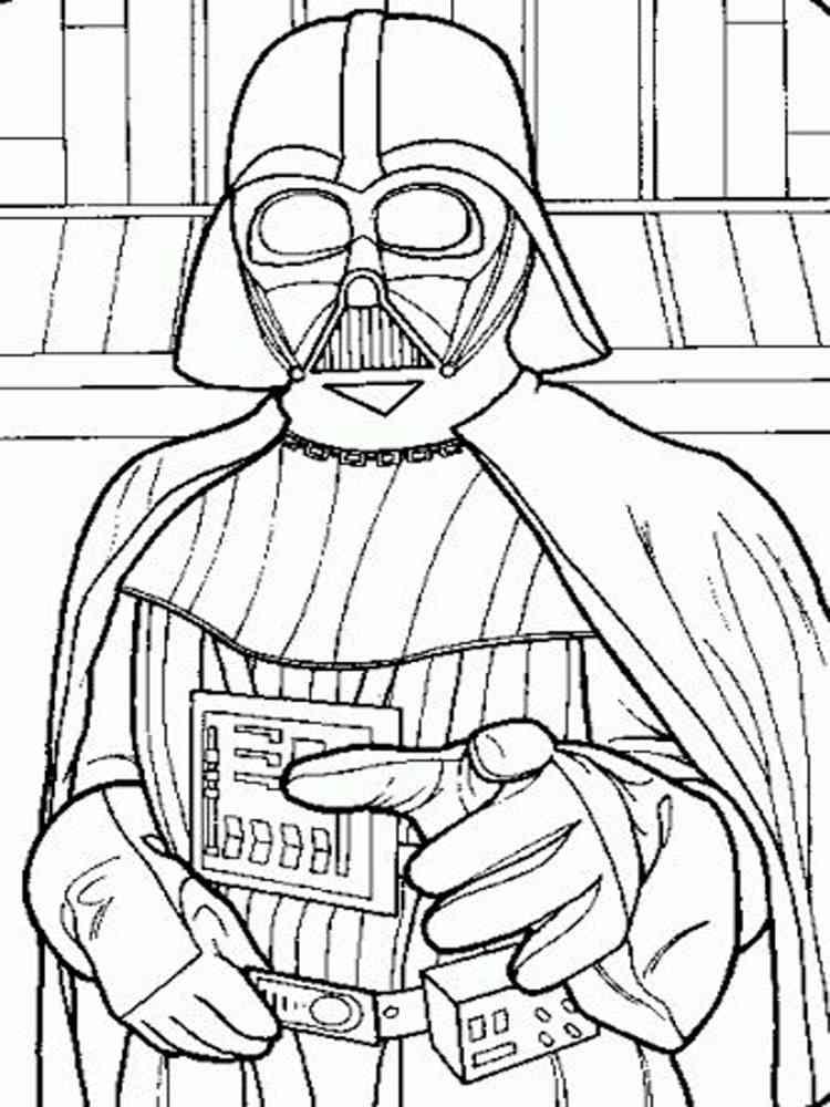 Darth Vader coloring pages. Free Printable Darth Vader ...