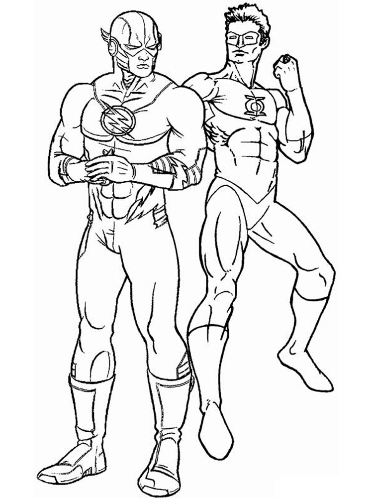 DC Comics Flash coloring pages Free Printable DC Comics Flash