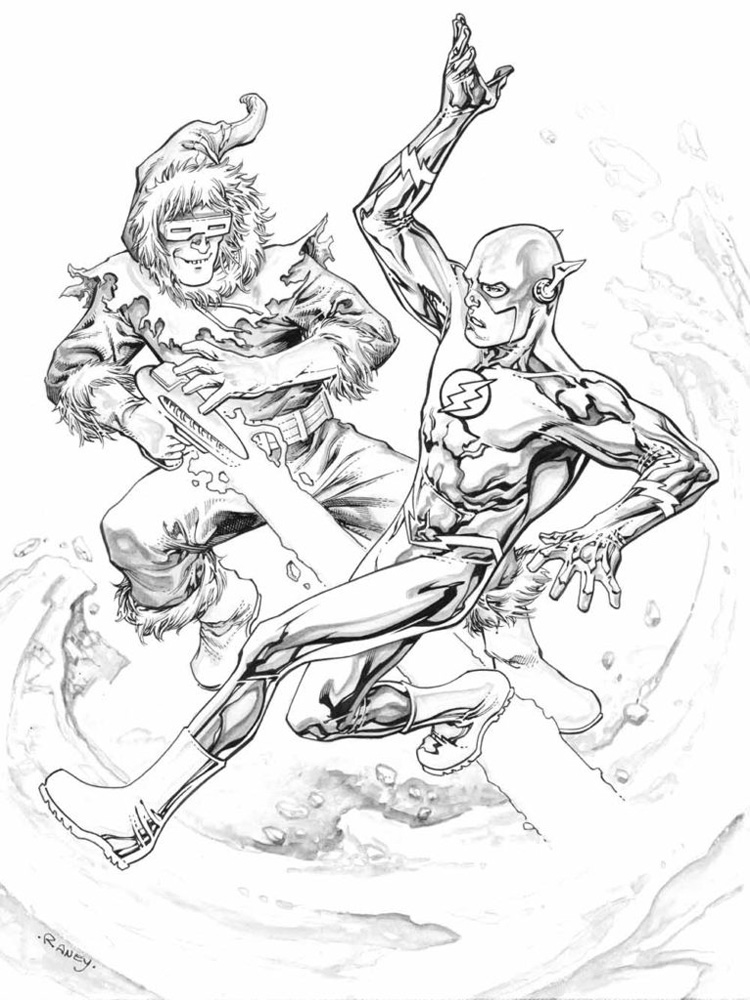 dc flash coloring pages - photo#14