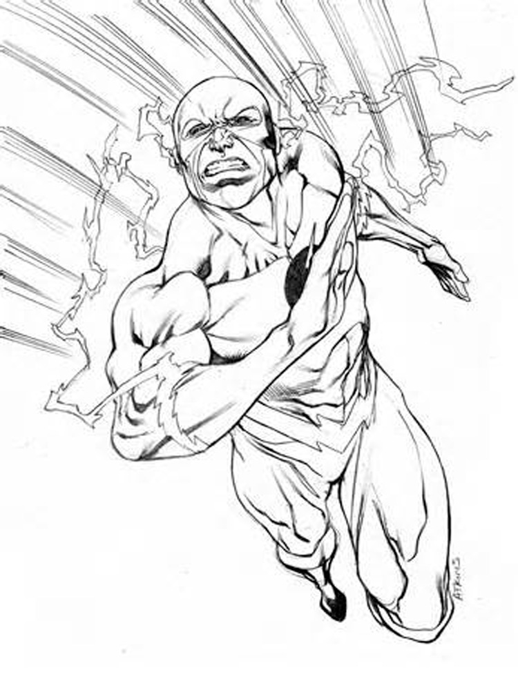 Dc Comics Flash Coloring Pages Free Printable Dc Comics