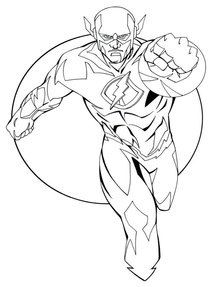 91 The Flash Coloring Pages With Kid The Flash Dc Coloring Pictures