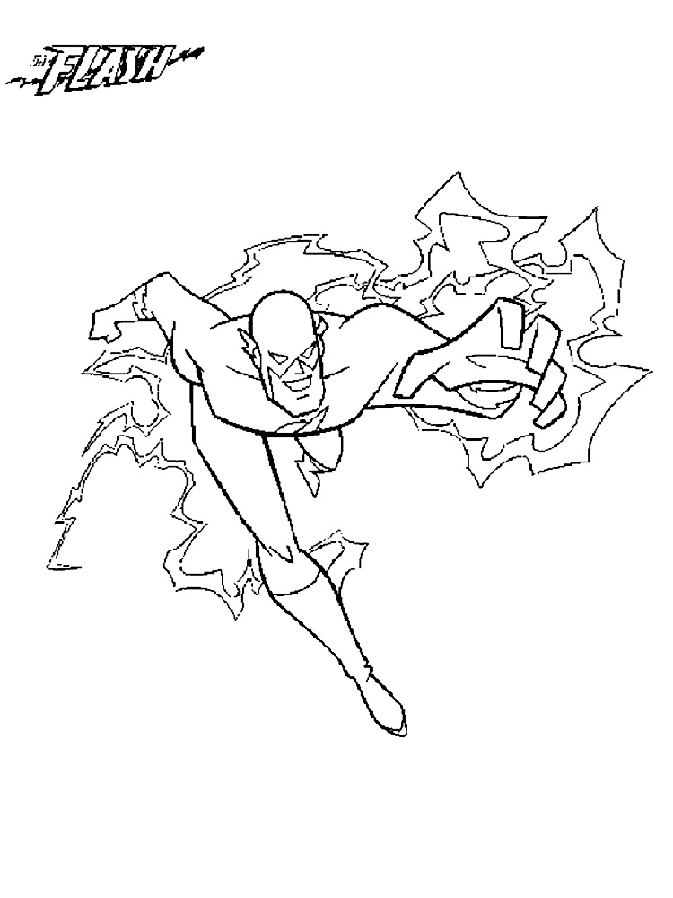 dc flash coloring pages - photo#15