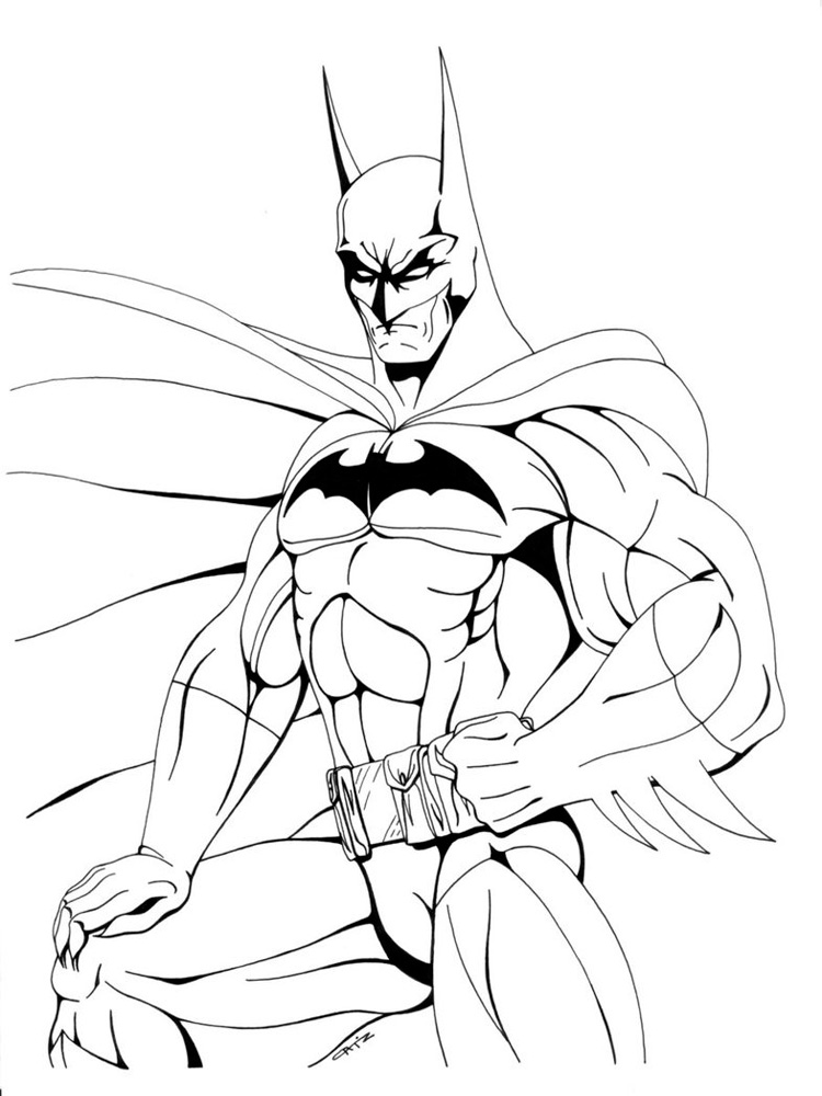DC Superhero coloring pages Free