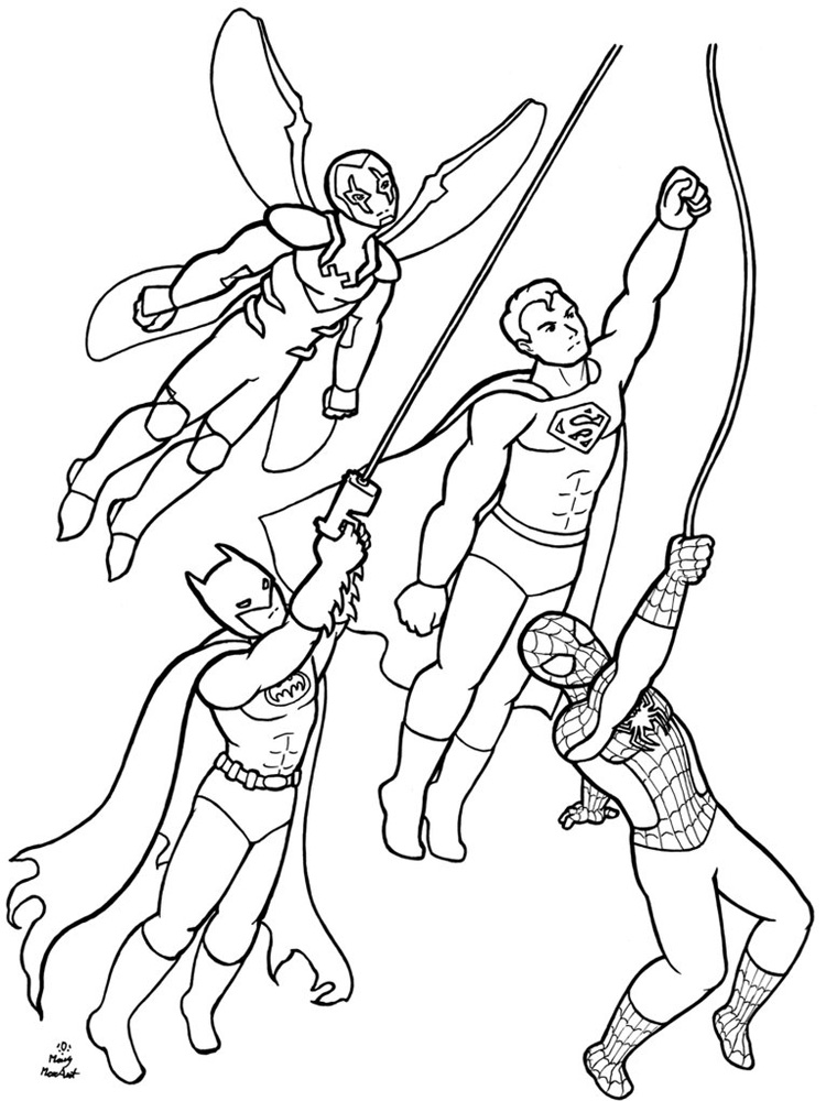 DC Superhero Coloring Pages. Free Printable DC Superhero