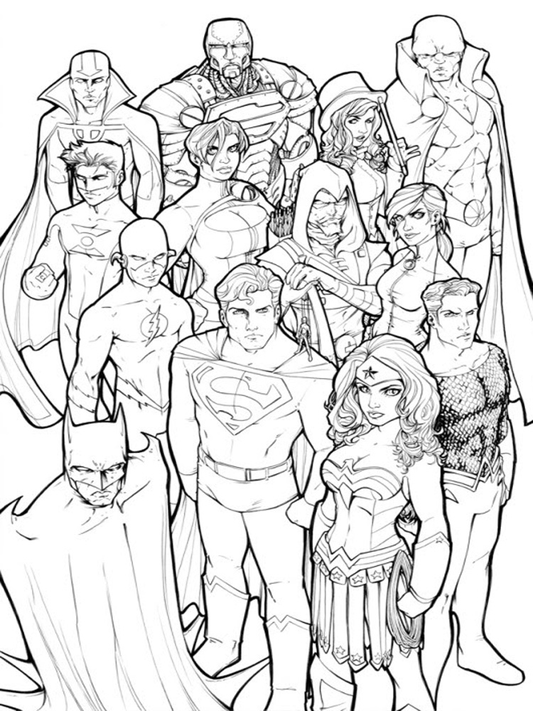 DC Superhero Coloring Pages. Free Printable DC Superhero Coloring Pages.
