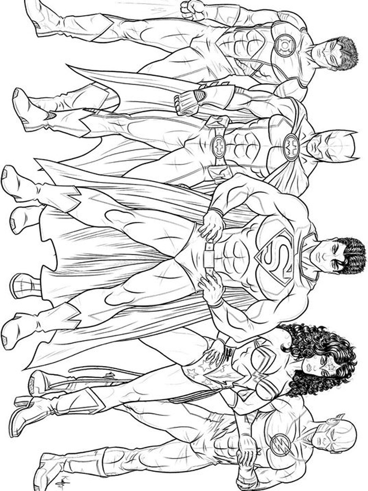 DC Superhero Coloring Pages Free Printable DC Superhero