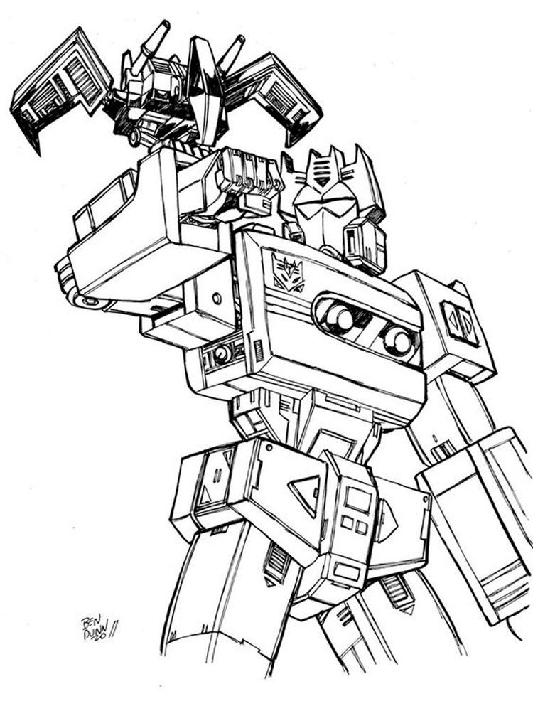 Decepticon Coloring Pages Free Printable Decepticon