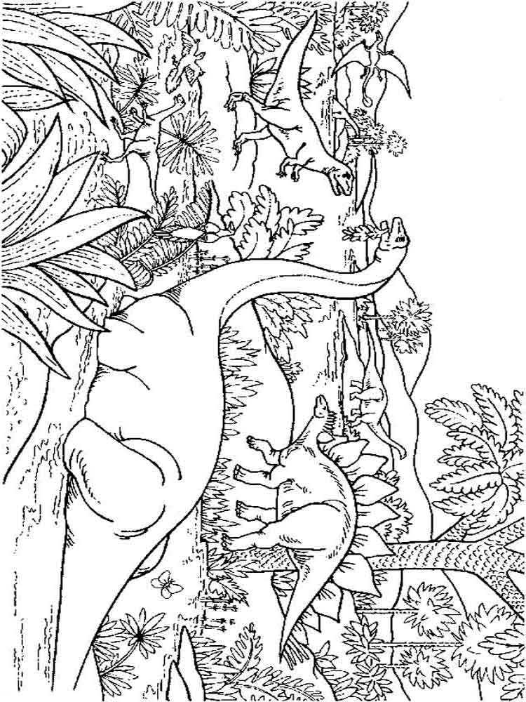 Dinosaurs coloring pages Download