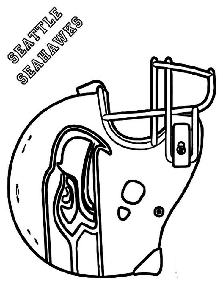 Football Helmet Coloring Pages Free Printable Football Coloring Pages For Boys Football Teams Free