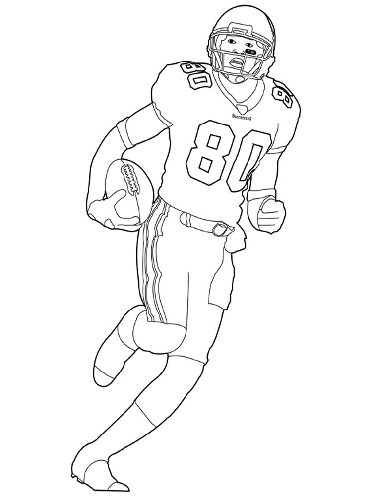 Football Player coloring pages Free Printable Football Player