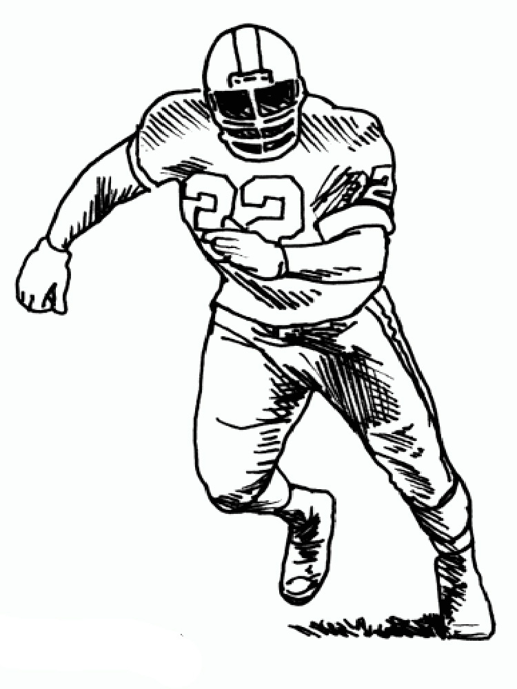Football Player coloring pages. Free Printable Football Player ...