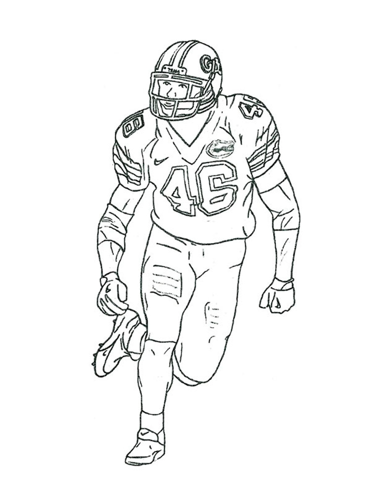 football player coloring pages for boys 13 - Coloring Pages Football Players