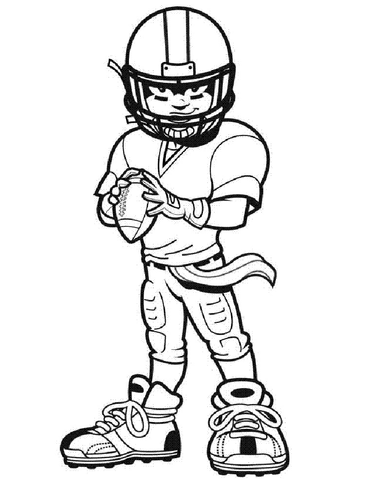 Football Player coloring pages. Free Printable Football ...