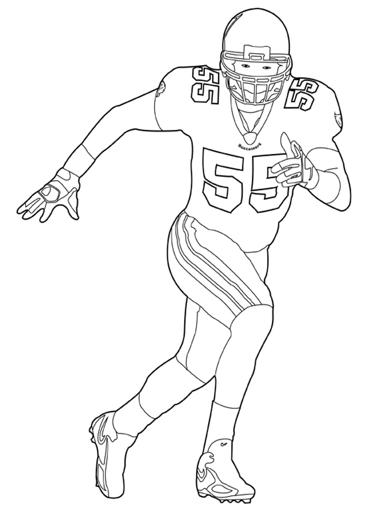 Good Football Player Coloring Pages For Boys Nfl Page Printable Design On With Seahawks Color