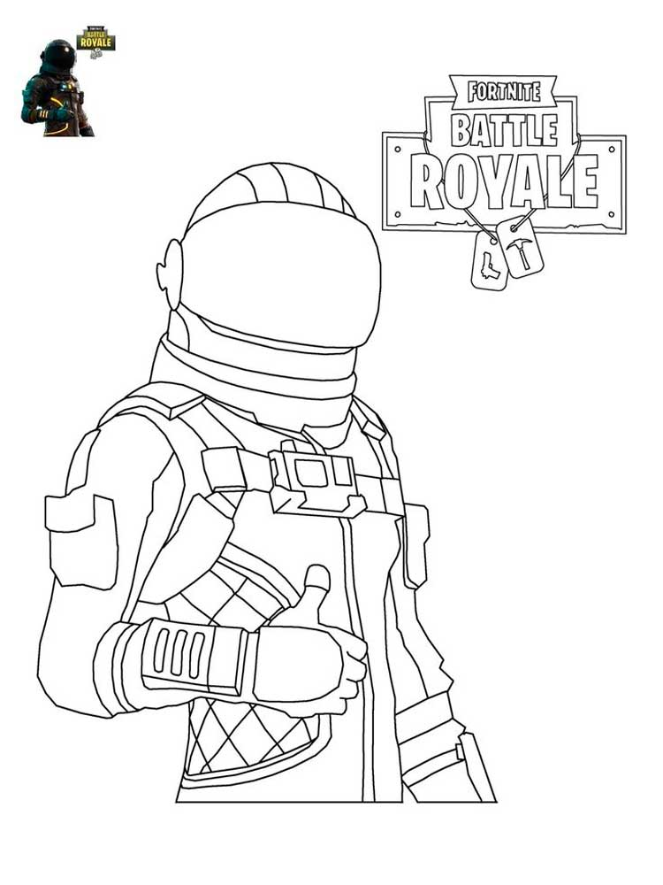 Free printable Fortnite coloring pages for Kids