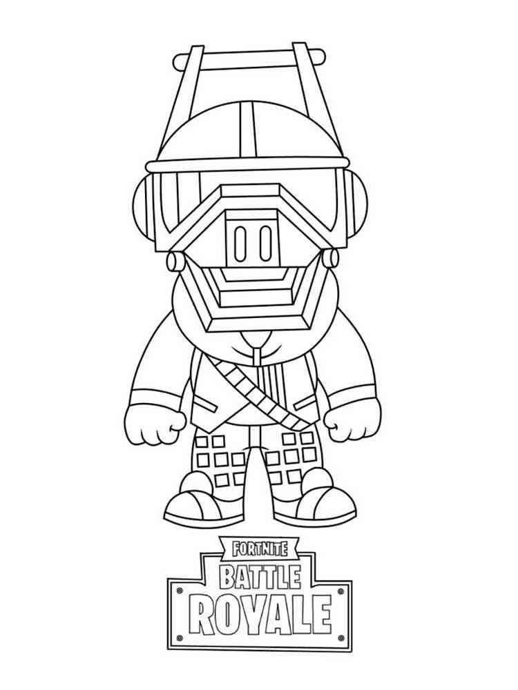 Free printable Fortnite coloring