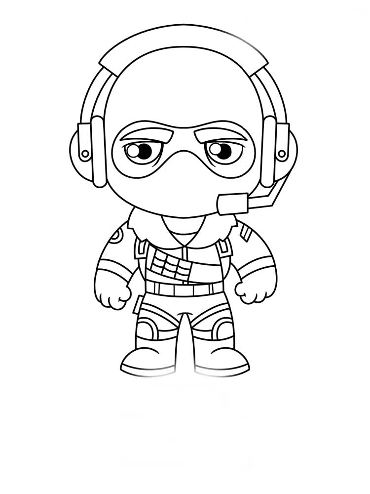 Free printable Fortnite coloring