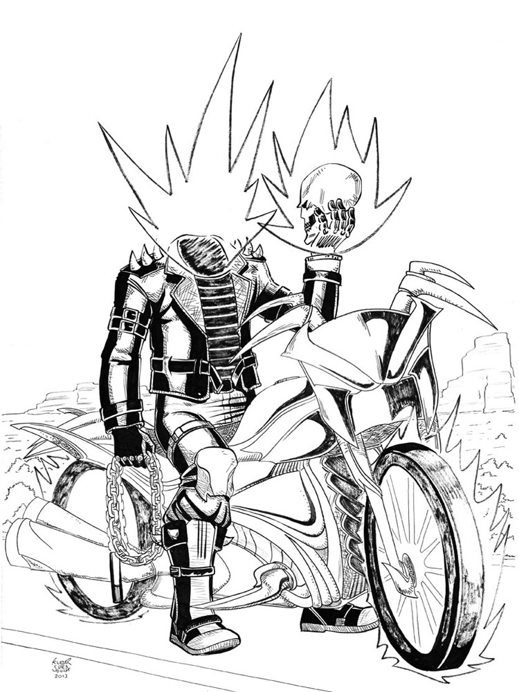 Ghost Rider coloring pages. Free Printable Ghost Rider coloring pages.