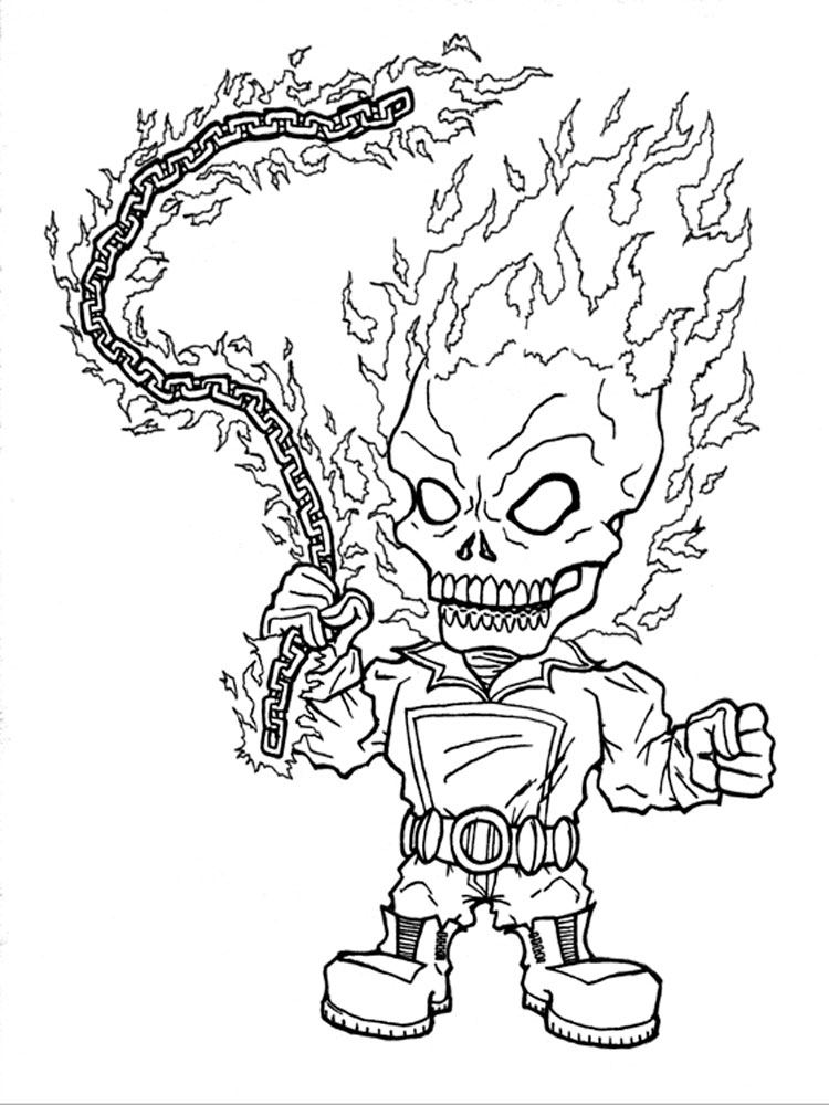 Ghost Rider Coloring Pages For Boys 12