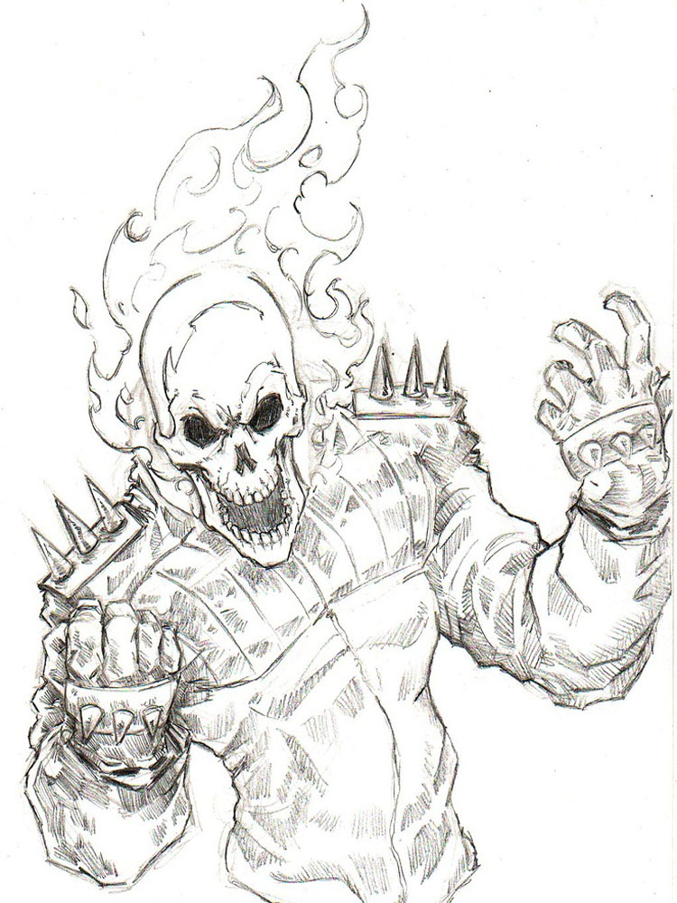 Ghost Rider Coloring Pages For Boys 13