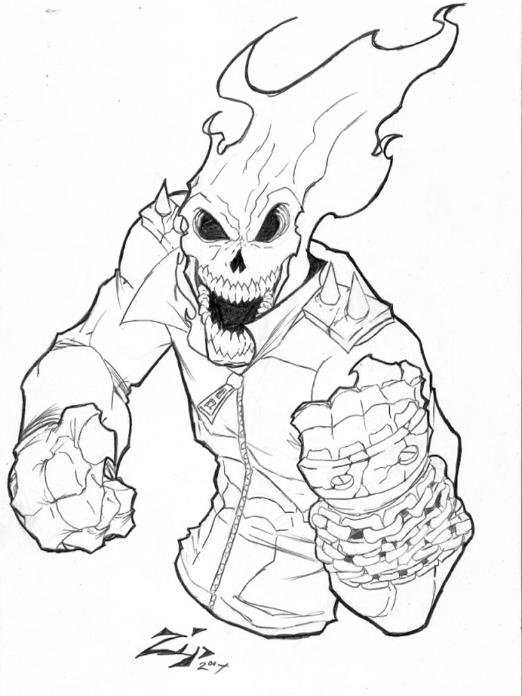 Ghost Rider coloring pages Free Printable Ghost Rider