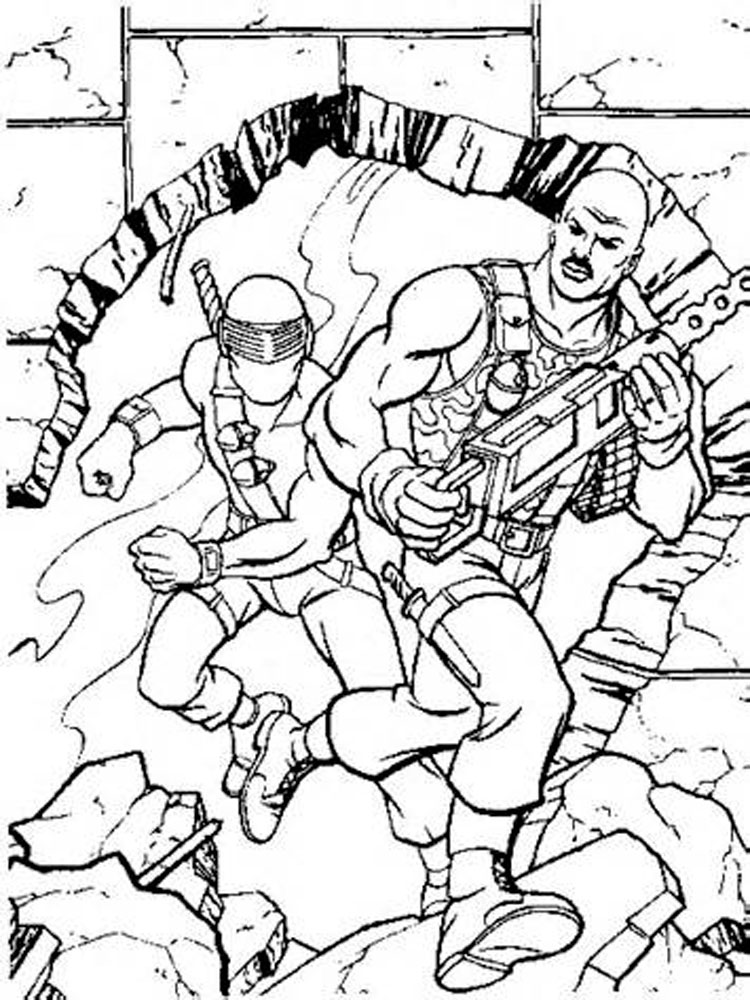 Gi Joe Coloring Pages Free Printable Gi Joe Coloring Pages