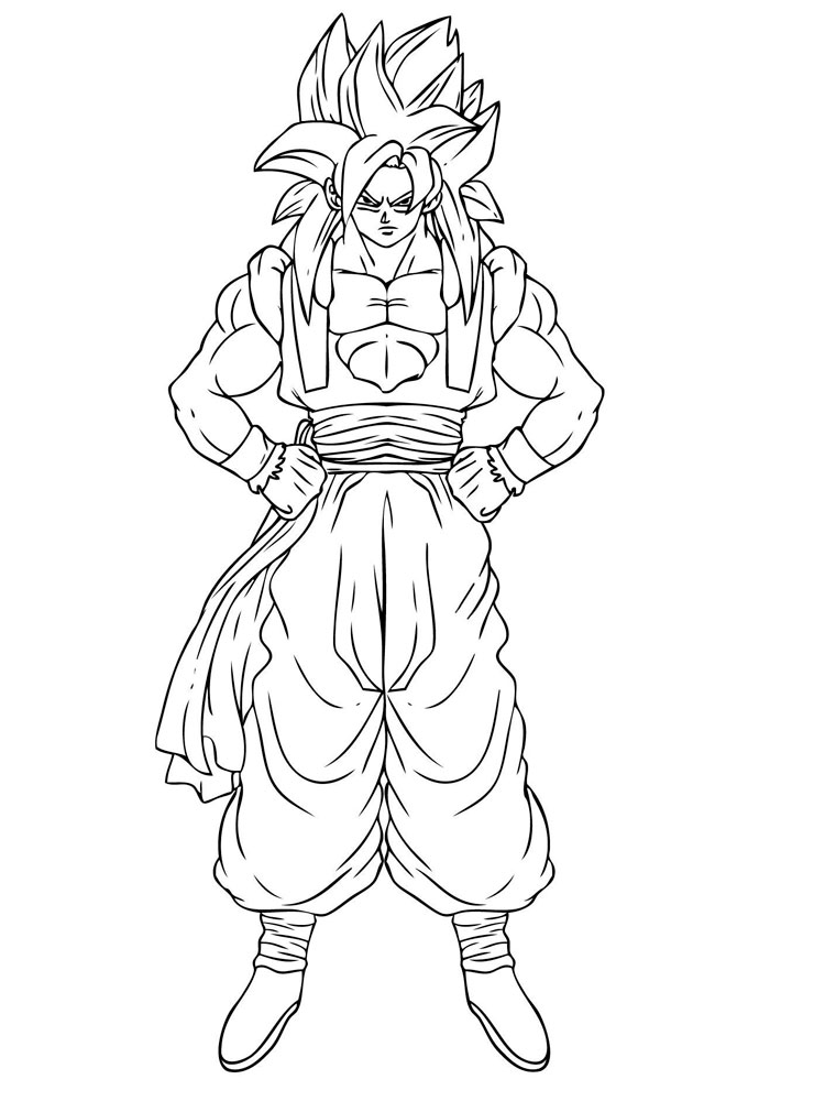 Goku Coloring Pages. Free Printable Goku Coloring Pages